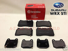 FOR SUBARU IMPREZA TURBO WRX STI 2.0 2.5 ALL Front Rear O.E Brembo brake pads