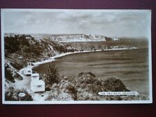 POSTCARD RP DORSET SWANAGE - THE TWO BAYS - OLD CARVANS ON THE CLIGG