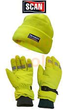 SCAN Thinsulate Thermal Warm HI-VIZ Large Gloves + 3M Beanie Hat, SCAWWHVGLOPK