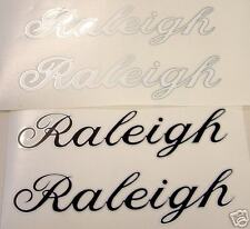 Vintage Raleigh DT decals White /Silver or Black/Silver