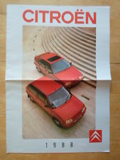 Citroen gamme 1988 uk marketing grand format sales brochure - 2CV6 ax bx cx gti