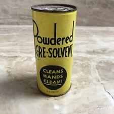VINTAGE ANTIQUE 3/4 LB. GRE-SOLVENT TINS Can Cleans Hands Clean Soap