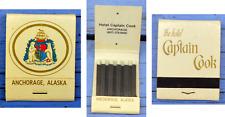 Pochette d'allumettes complète, années 1980-90, Captain Cook Hotel, Alaska, USA,