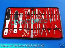 Manicure Pedicure Nail Cuticle & Skin Care Kit New 27 Pcs BTS-138