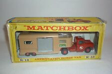 MATCHBOX - KING SIZE - K-18 -  PFERDETRANSPORTER - OVP  - (2.MB-14)