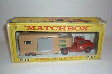 MATCHBOX - KING SIZE - K-18 - TRASPORTO CAVALLI - CONF. ORIG. - (2.MB-14)
