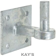 GATE HANGING HINGE PIN HEAVY DUTY GALVANISED 19mm HOOK PLATE SQUARE FARM / DRIVE