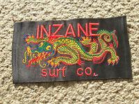surfing surfer surfboard big jacket patch inzane surf of hawaii longboard dragon
