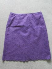 """MARKS & SPENCER Ladies Purple Cotton Broderie Anglaise Skirt Size 20 Length 27"""""""