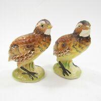 Vintage Salt Pepper Shakers Set Partridge Grouse Quail Birds Japan INV100