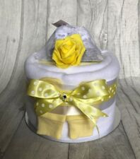 1 One Tier Nappy Cake - Unisex - Baby Shower / New Baby Gift