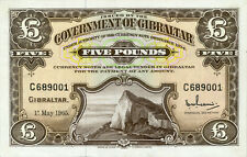 Gibraltar P-19 5 pounds 1965 TDLR Unc with mounting stains