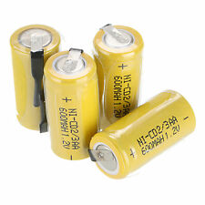 4pcs a set Ni-Cd 600mAh 1.2V 2/3AA Rechargeable Battery NiCd Batteries - Yellow