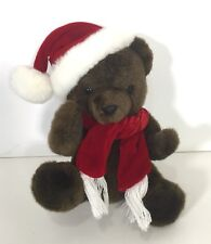 "Ganz Brothers The Heritage Collection 8"" Brown Christmas Teddy Bear Santa Hat"