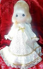 VINTAGE PRECIOUS MOMENTS BLONDE HAIR ANGEL CHRISTMAS TREE TOPPER