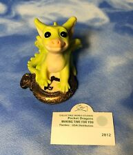 """Hand Signed Pocket Dragons Club """"Making Time For You"""" Dragon Figurine #2812 Rguc"""