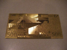 BILLETE 500 EUROS REPLICA ORO GOLD 24K