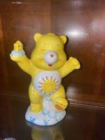 Vintage Care Bears Funshine Sunshine Bear Ceramic Piggy Bank
