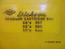B6/ Ntn Dickson Handgun Cartridge Boxes Holds 50 Rounds 38s 32s 30s 357 380 9Mm