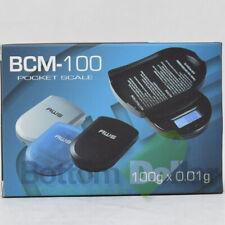 AWS BCM-100 Black 100 X 0.01 Gram Portable Digital Pocket Sized Jewelry Scale