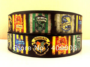 "Boys Harry Potter Ribbon 1"" (25mm) Wide........ Only £1.49 per metre FREE P&P"