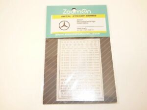 Sticker métal logo MERCEDES - AMG 1/43 1/24 1/18