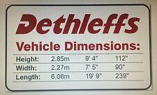 Dethleffs Motorhome Height Sticker - Waterproof & Personalised