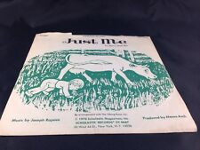"""JUST ME by Marie Hall Ets Scholastic Records 7"""" 33RPM 1970"""