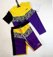Hudson Outerwear Men's 2p set 100%AUTHENTIC shorts and T-shirt size Large zibra