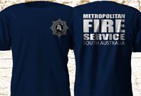 New Metropolitan Fire Service South Australia Adelaide Navy T-Shirt S-4XL