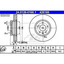 Bremsscheibe, 1 Stück ATE 24.0126-0166.1