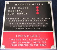 Land Rover Series 2 2a 3 Bulkhead Gearbox/Transfer Box Info id vin chassis plate