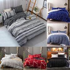 3Pcs Duvet Cover Set Printed Soft Comforter Cover w/ Pillow Sham Full Queen King