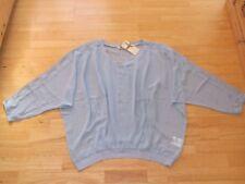 Cream Chiffonbluse Bluse blau mit Spitze  Gr. 44  * NEU *
