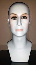 """Brand New 16"""" White Male Head Mannequin 202Wm"""