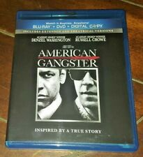 American Gangster *USED* (Blu-ray/DVD, 2011, Extended Rated/Unrated Versions)