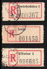 3 x Polish registration labels