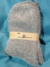 WOMENS     100%  ANGORA RABBIT  WOOL  SOCKS     SUPERSOFT   MINK BROWN      NWT