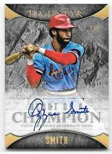 2017 Topps Five Star Heart Of A Champion Gold Ozzie Smith On Card Autograph #1/1