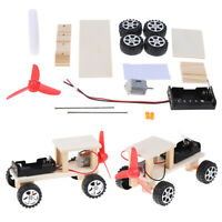 DIY Electric wind car assembled puzzles scientific experiment educational toy NT