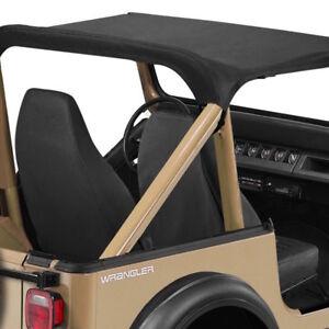 1987-1991 Jeep Wrangler YJ Standard Bikini Bimini Top Cover in Black