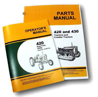OPERATOR PARTS MANUAL SET FOR JOHN DEERE 420W 420 ROW CROP UTILITY TRACTOR OWNER