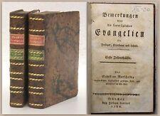 Mutschelle Bemerkungen über die sonntäglichen Evangelien 2 Bde 1786 Erstausgabe