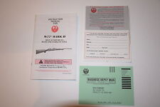 RUGER M77 MARK II FACTORY MANUAL/INSTRUCTION BOOK BOLT ACTION RIFLE MANUAL NEW!