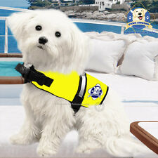 PAWS ABOARD Dog Life Jacket Water Safety Yellow Neon Vest XX-Small XXS 2-6 lbs