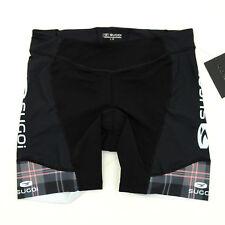 Sugoi Womens RS Tri Cycling Shorts Black/White/Pink Plaid X-Small