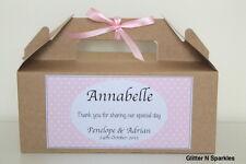 Personalised Childrens  Wedding Activity Box Party Bag  Gift SPOTTY KRAFT