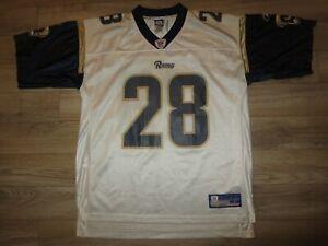 Marshall Faulk #28 St. Louis Rams Reebok Jersey Large LG
