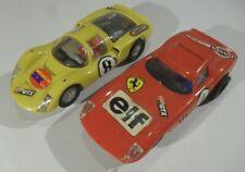 2x altes GAMA AUTORENNBAHN Modellauto Maßstab 1:32 vintage Slotcar Set