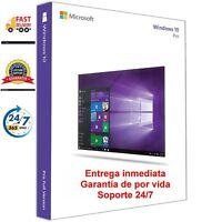 Windows 10 Pro 32/64 Bits LICENCIA CLAVE DE ACTIVACIÓN GENUINA Versión Completa